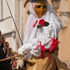 Su Componidori, head of the Sartiglia Festival, the most important traditional carnival of Sardinia / Su Componidori, personaggio principale della Sartiglia di Oristano.