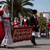 Sardinia, Italy: Sassari, Cavalcata Sarda Festival. Group of people wearing a traditional sardinian dress.