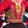 Sardinia, Italy: the Cavalcata Sarda Festival. Close -up of a traditional female dress - Sardegna, Cavalcata Sarda: sfilata dei costumi tradizionali della Sardegna