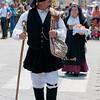 Sardinia, Italy: Sassari, Cavalcata Sarda Festival. A man wearing a traditional sardinian dress. Cavalcata Sarda: sfilata dei costumi tradizionali della Sardegna