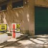 vecchia stazione di servizio dismessa nel borgo minerario di Montevecchio