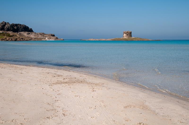 Sardinia, Italy: Stintino, La Pelosa Beach and the  spanish tower.