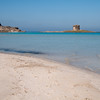 Sardinia, Italy: Stintino, La Pelosa Beach and the  spanish tower.