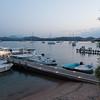 Olbia, Tavolara island. The dock at sunset. Il molo sull'isola di Tavolara.