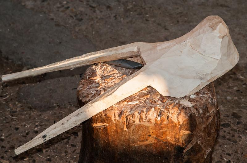 Ottana: la realizzazione delle maschere tradizionali del paese, situato nel cuore della Barbagia.