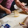 Oliena (NU), Italy, 15.09.2013. Cortes Apertas. Degustazione di formaggi tipici sardi.