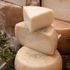 Sardinia, Italy: typical cheese pecorino / Forme di formaggio tipico pecorino sardo.