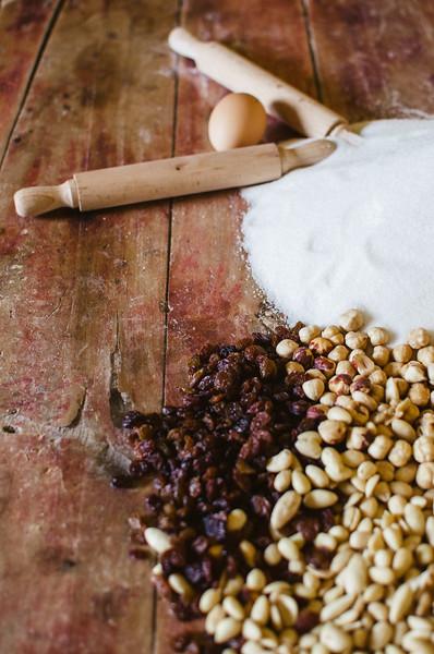 Oliena (NU), Italy, 15.09.2013. Cortes Apertas. Ingredienti per la preparazione dei dolci.