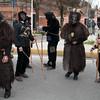 Sardinia, Italy: traditional carnival masks - Maschere tradizionali della Sardegna: Is Mustayonis e s'Orcu Foresu di Sestu