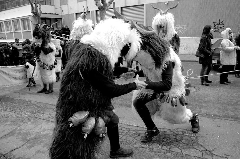 Sardinia, Italy: traditional carnival masks - Maschere tradizionali della Sardegna: Su Corongiaiu, Laconi