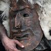 Sardinia, Italy: traditional carnival masks - Maschere tradizionali della Sardegna: Sa Facciola Meanesa, Meana Sardo