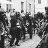 Oliena (NU), Italy, 15.09.2013. Cortes Apertas. Sfilata delle maschere tradizionali del carnavale sardo: i Mamuthones e gli issohadores di Mamoiada.