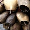 Sardinia, Italy: traditional carnival masks - Maschere tradizionali della Sardegna: Mamutzones di Samugheo - Dettaglio dei caratteristici campanacci