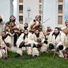 Sardinia, Italy: traditional carnival masks - Maschere tradizionali della Sardegna: Foto di gruppo per i Boes e Merdules di Ottana