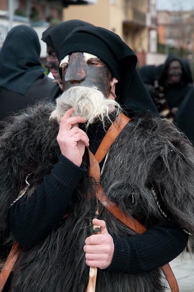 Sardinia, Italy: traditional carnival masks - Maschere tradizionali della Sardegna: su Maimulu di Ulassai.