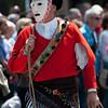 Sardinia, Italy: traditional carnival mask Issohadores di mamoiada during the Cavalcata Sarda Festival / Maschere tradizionali della Sardegna: Issohadores di Mamoiada durante la Cavalcata Sarda