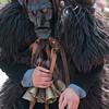 Sardinia, Italy: Sassari, Mamutohes mask during the Cavalcata Sarda festival - Sardegna: i Mamuthones di Mamoiada alla Cavalcata Sarda di Sassari