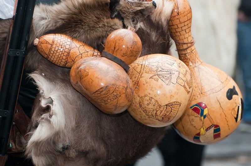 Sardinia, Italy: traditional carnival masks - Maschere tradizionali della Sardegna: is Cerbus di Sinnai