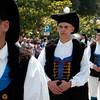 Sardinia, Italy: Sassari, Cavalcata Sarda Festival. Men wearing a traditional sardinian dress. Cavalcata Sarda: sfilata dei costumi tradizionali della Sardegna