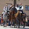 Sardinia, Italy: Sassari, Cavalcata Sarda Festival. Horsemen wearing a traditional sardinian dress. Cavalcata Sarda: sfilata dei costumi tradizionali della Sardegna