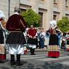 Sardinia, Italy: Sassari, Cavalcata Sarda Festival. Group of people wearing a traditional sardinian dress.