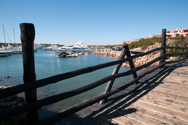 Sardinia, italy: Porto cervo, view of the old harbour