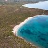 Sardinia, Italy. Aerial view of Costa Smeralda. Cala Petra Ruja Beach.