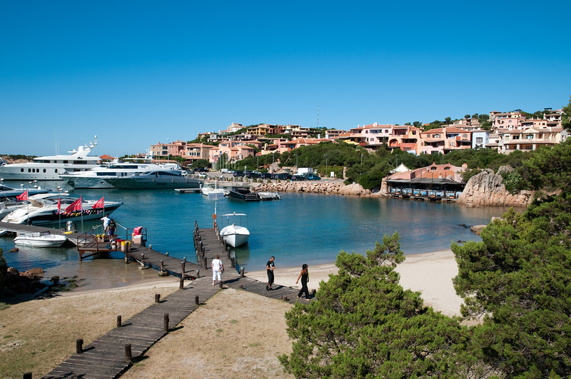 Sardinia, Italy: Porto Cervo, the famous touristic location.