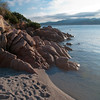 Sardinia, Italy: Costa Smeralda, evening at La Celvia beach. - Sardegna, Costa Smeralda: spiaggia La Celvia al tramonto