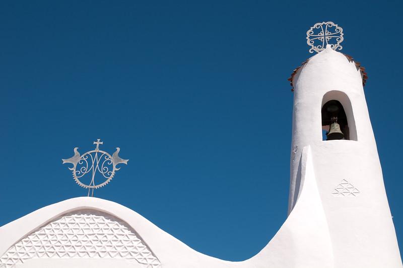 Sardinia, Italy: Stella Maris church in Porto Cervo, Costa Smeralda. -  Sardegna, Porto Cervo, Costa Smeralda: chiesa Stella Maris