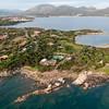 Sardinia, Italy. Aerial view of Costa Smeralda. Porto Rotondo: Punta Volpe.