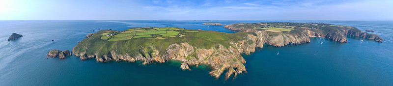 Little Sark, east coast panorama