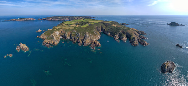 Little Sark, south coast panorama