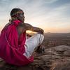 Jacob at sunset on sundown rock, near Sasaab