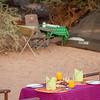 Breakfast after fly camping near Sasaab