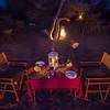 Fly camping dinner