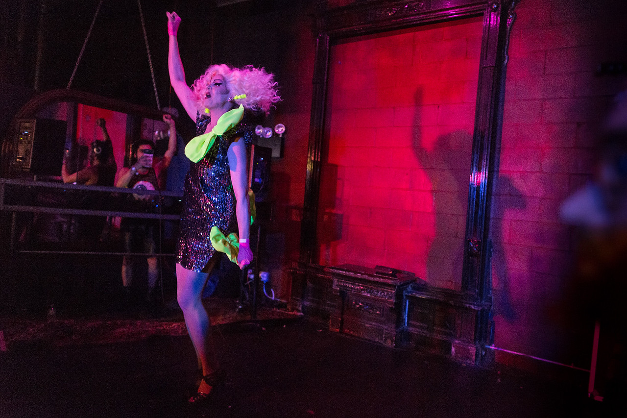 Olive d'Nightlife emceed and performed at Love, Velour, a birthday party for RuPaul's Drag Race season 9 winner Sasha Velour.