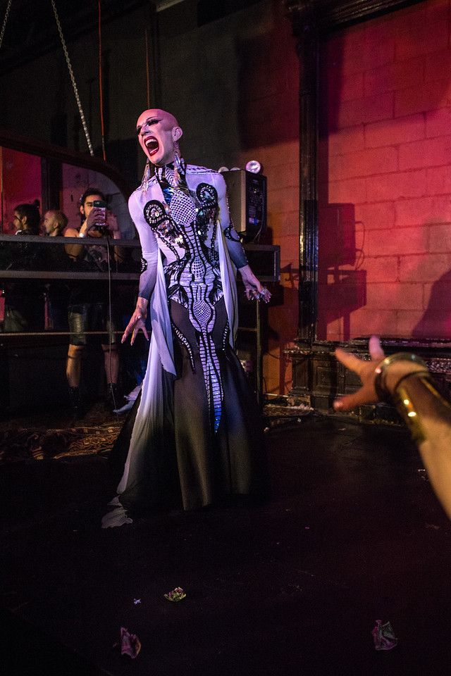 Sasha Velour performs at Love, Velour on Sunday, June 25 at Lot 45 in Bushwick.