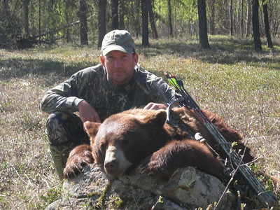 Robert Kindelan with his first Archery Black Bear