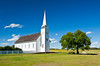 The Church of St. Antoine de Padoue in historic Batoche, Saskatchewan, Canada.
