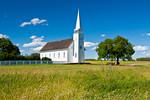 The Church of St. Antoine de Padoue in historic Batoche, Saskatchewan, Canada.