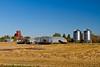 An elevator and grain farm at Beatty, Saskatchewan, Canada.