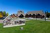 The Elk Ridge Resort sign at Waskesiu Lake, Saskatchewan, Canada.
