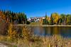 Fall foliage and accomodations at the Elk Ridge Resort in lakeland near Waskesiu Lake, Saskatchewan, Canada.