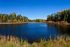 Fall foliage at the Elk Ridge Resort in lake country near Waskesiu Lake, Saskatchewan, Canada.