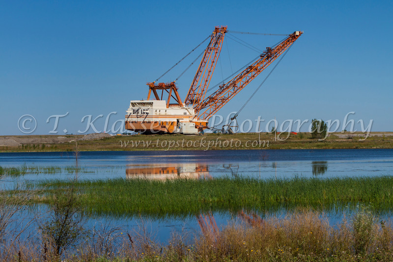 "The ""Big Lou"" dragline at the coal mine near Estevan, Saskatchewan, Canada."