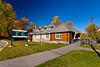 Park administrative building in Waskesiu townsite in Prince Albert National Park, Saskatchewan, Canada.