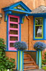 A colorful front door and entrance to a home in Regina, Saskatchewan, Canada.