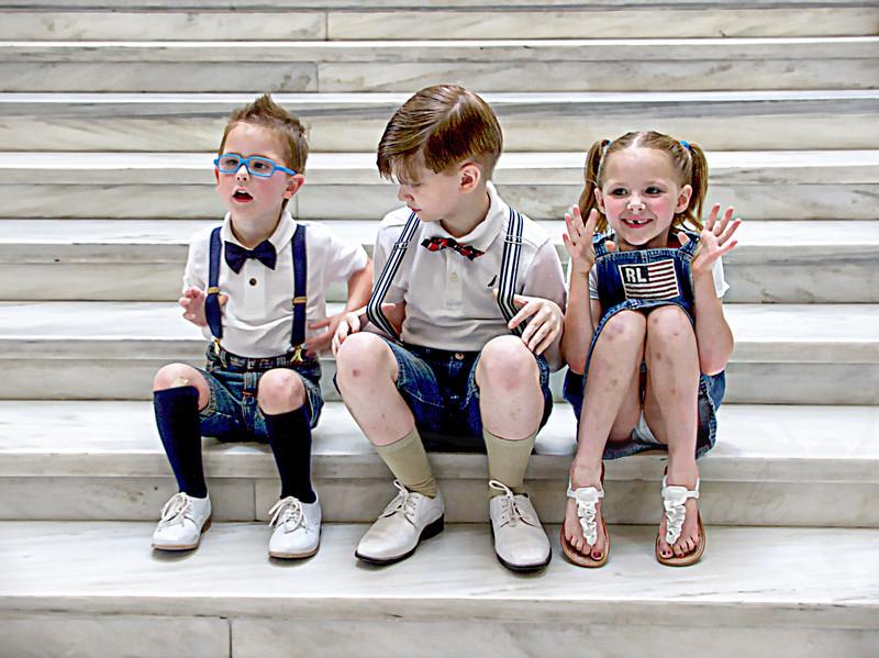 L to R: Hunter McCaan, Landon Denley and Maddie Guthrie