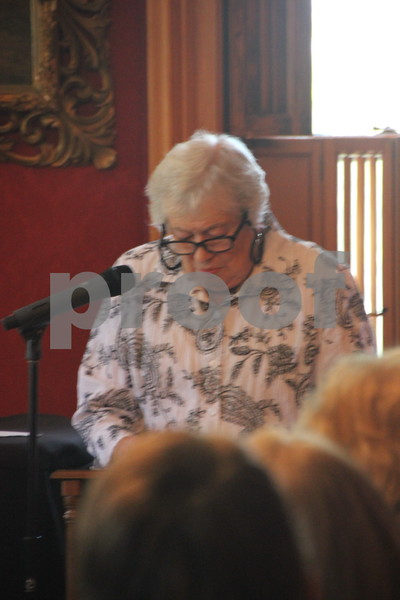 "On Sunday, October 2, 2016 the Vincent House in Fort Dodge held an event  called ""Sassy Ladies of The West"". Stories  about  ladies of the West were told by a guest speaker, to those in attendance. Afterward there were refreshments served. Shown here is: Bev Hinds, the guest speaker."